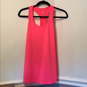 Champion Fitted Hot Pink Racerback Tank Top